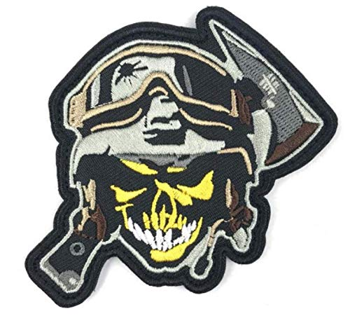Australia Scull Patch Skull Military Patch Fabric Embroidered Badges Patch Tactical Stickers for Clothes with Hook & Loop