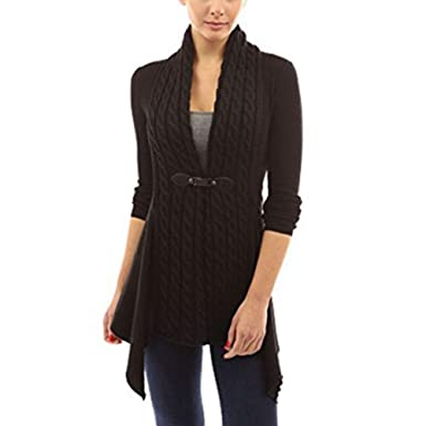 42e3b1c42977 Leoie Fall Cardigan Sweaters for Women Plus Size Knit Cardigans for Women V-Neck  Cardigan