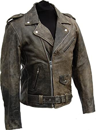 1 of 1: LEDERJACKE ROCKABILLY CHOPPER BIKER LEDER JACKE