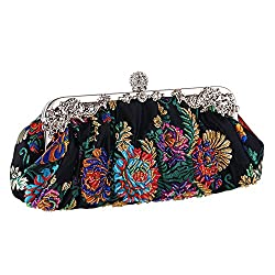 Vintage Jewels Beaded Floral Clutch