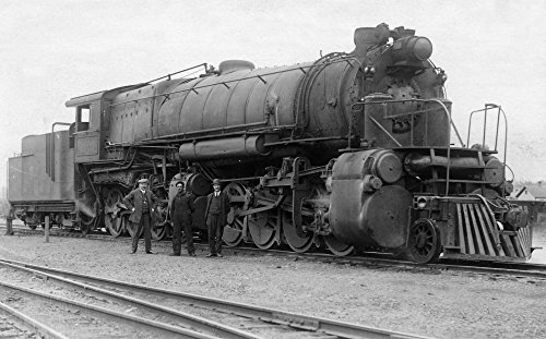 Whitefish, Montana - View of Train Engine Collectible Art Print, Wall Decor Travel Poster