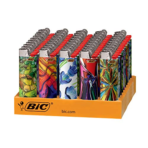 (BIC Special Edition Blown Glass Series Lighters, 50-Count Tray)