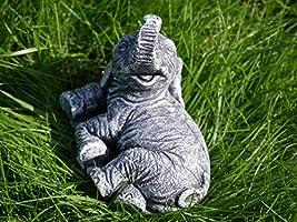 HomeZone 3pc Resina Elefante Juego Jardín Adornos Jardín ...