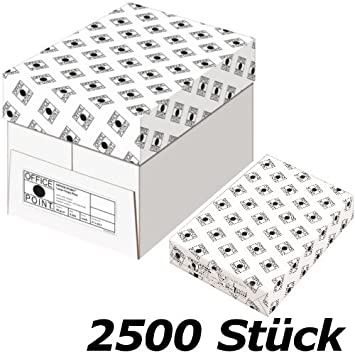 Office Point 2500 Blatt A4 Druckerpapier Kopierpapier Drucker Papier 80g//m²