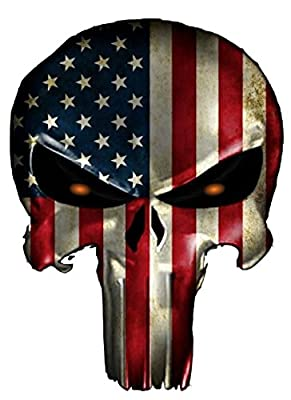 Wall Punisher2 American FLAG Sniper car window Decal Vinyl Sticker Navy Seal