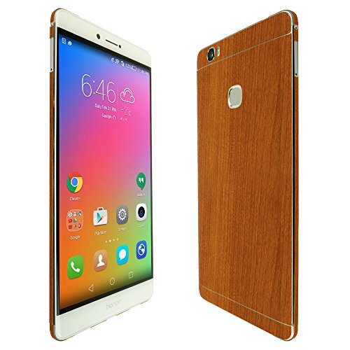 Skinomi TechSkin - Huawei Honor Note 8 Screen Protector + Light Wood Full Body Skin / Front & Back Wrap Clear Film / Ultra HD and Anti-Bubble Shield (Note Edge Skinomi compare prices)
