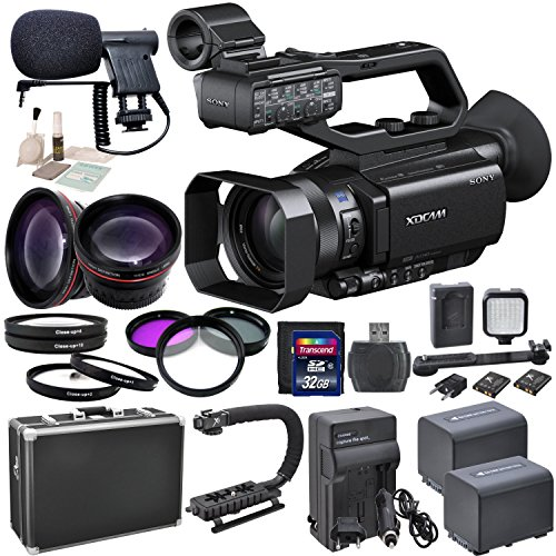 Sony PXW-X70 with eDigitalUSA Advanced Kit: Includes HD Lenses, Filters, Macro Lenses, Boom Mic, LED Video Light and more... by Sony