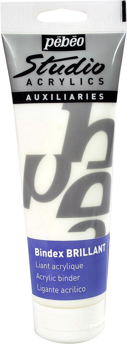 Pebeo Studio Acrylics Auxiliaries, Bindex Acrylic Binder, 500 ml Pebeo Fabricant de Couleurs 524260