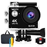 Action Camera WeyTy X9S 4k Ultra HD Sports Camera 16MP Wifi Waterproof Camcorder 170¡ã Wide-Angle Len Underwater Camera with Remote Control,Travel Bag and Mounting Accessories Kit