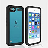 iPod 5 iPod 6 Waterproof Case, Re-Sport Shockproof Dustproof Snowproof Full-Body Protective Case Cover Built-in Screen Protector Compatible iPod Touch 5th/6th (Black)