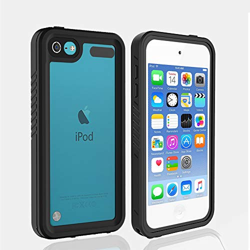 iPod 5 iPod 6 Waterproof Case, Re-Sport Shockproof Dustproof Snowproof Full-Body Protective Case Cover Built-in Screen Protector Compatible iPod Touch 5th/6th ()