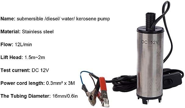 12 V 3 8 Cm Diesel Wasser Kerosinpumpe Elektrisch Edelstahl 8500 R M Baumarkt
