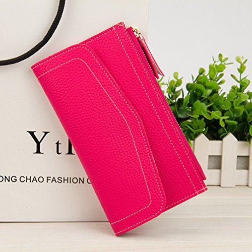 Damen Leder Geldbörsen Taschen Damen Portemonnaie Damen Geldbeutel Damenhandtasche,Brieftasche Kreditkartenetui Wallet,RFID-Diebstahlschutzmappe. Abschirmmaterial auswählen D