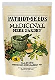 Patriot Seeds 10 Variety Seed Pack 100-Percent Heirloom Medicinal Herb Garden