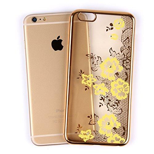 iPhone 6S Hülle Transparente,NSSTAR Clear TPU Glitzer Schutzhülle für Apple iPhone 6s,iPhone 6 4.7 Hülle Soft Clear Cover Bunte Strass Bling Glitzer Sparkles Painted Case Handyhülle Muster Schutz Hüll