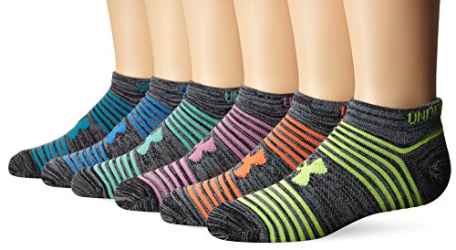 Under Armour Girls Essential Twist 2.0 No Show Socks (6 Pack)