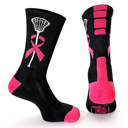 ChalkTalk SPORTS Athletic Half Cushioned Lacrosse Crew Socks | Mid Calf | Awareness Lacrosse | Small | Pink - Team Usa Lacrosse Hoodie