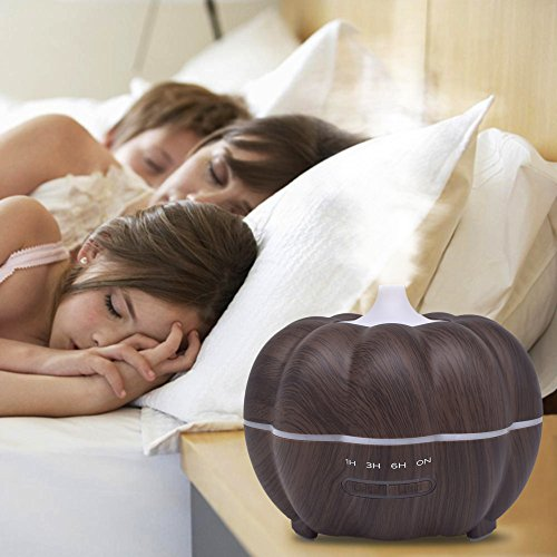 SoadSight Yrd Tech Pumpkin Wood Oil Aromatherapy Machine Humidifier Ultrasonic Home Creative Atmosphere Aromatherapy Humidifier (Brown) by SoadSight (Image #2)