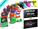 Physix Gear Sport Kinesiology Tape - Free Illustrated E-Guide - 5cm x 5m Uncut Roll - Best Pain...