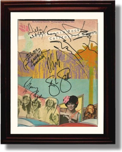 Framed Crosby Stills Nash and Young Autograph Replica (Music Signed Autograph)