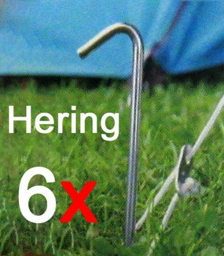 Land-Haus-Shop Lot de 6piquets de tente 23cm, piquets Camping tente la terre Clous d'ancrage Fixation (LHS)
