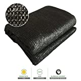 Sun Shade Cloth 70% Sunblock Black Greenhouse Shade Net 6.5'x13' UV Block Shade Tarp with Dark Taped Edge& Aluminium Grommets for Garden Plants