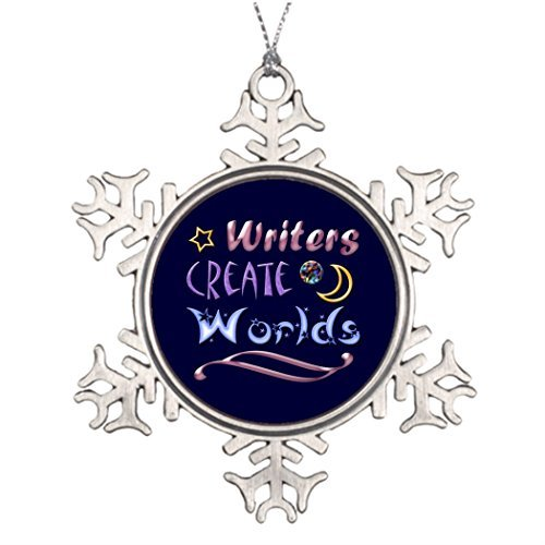 hanjear59 Xmas Trees Ornament Tree Decorated Writers Create Worlds Tree Branch Decor Writing ()