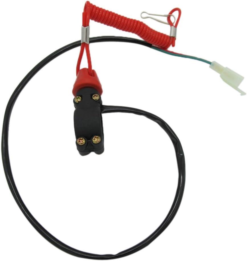 B Blesiya Interruptor de Emergencia Motocicleta ATV Bot/ón de Parada Motor Externo