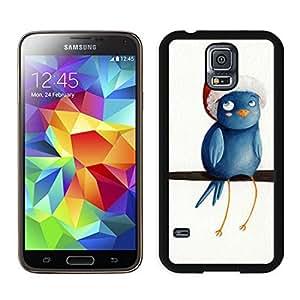 Custom Christmas Bird Black Samsung Galaxy S5 Case 3