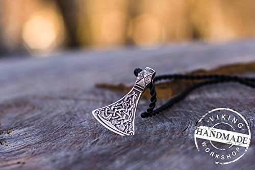 Viking Axe Pendant Viking Amulet Sterling Silver Necklace