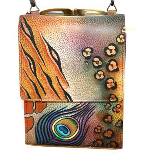 Anuschka cuir peint à la main , sac à main fronde pour les femmes , cadeau de luxe , 412 PKS