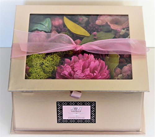L&M Naturals Peony Potpourri Scented Potpourri- Beautiful 11.5oz Box filled with Botanicals scented with Tuberose~ Made in the USA!