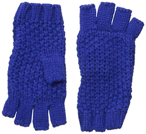 Fingerless Mitts Knit Pattern (Collection XIIX Women's Seed Stitch Fingerless Glove, Dynamic Blue, One Size)