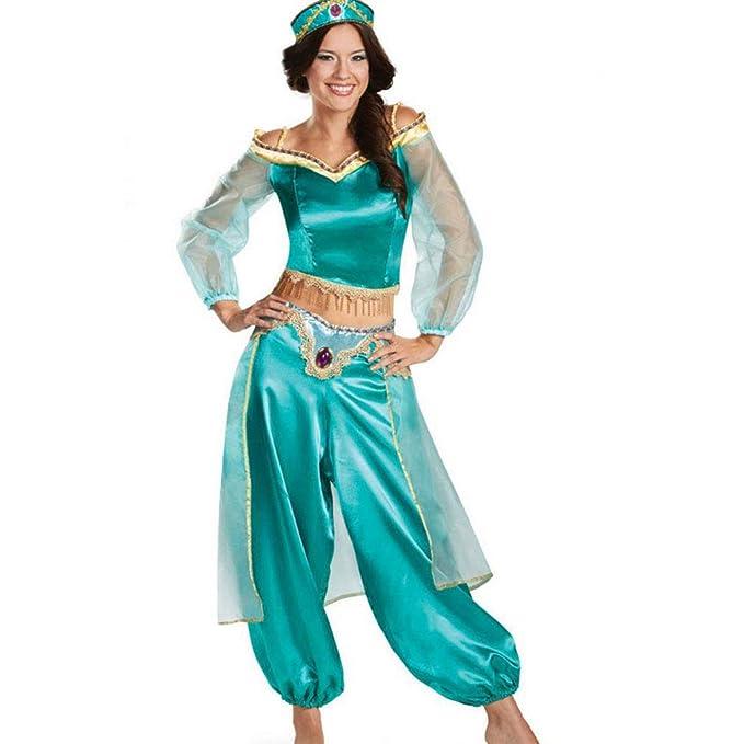 Amazon.com: RUEWEY - Disfraz de princesa de jazmín para ...