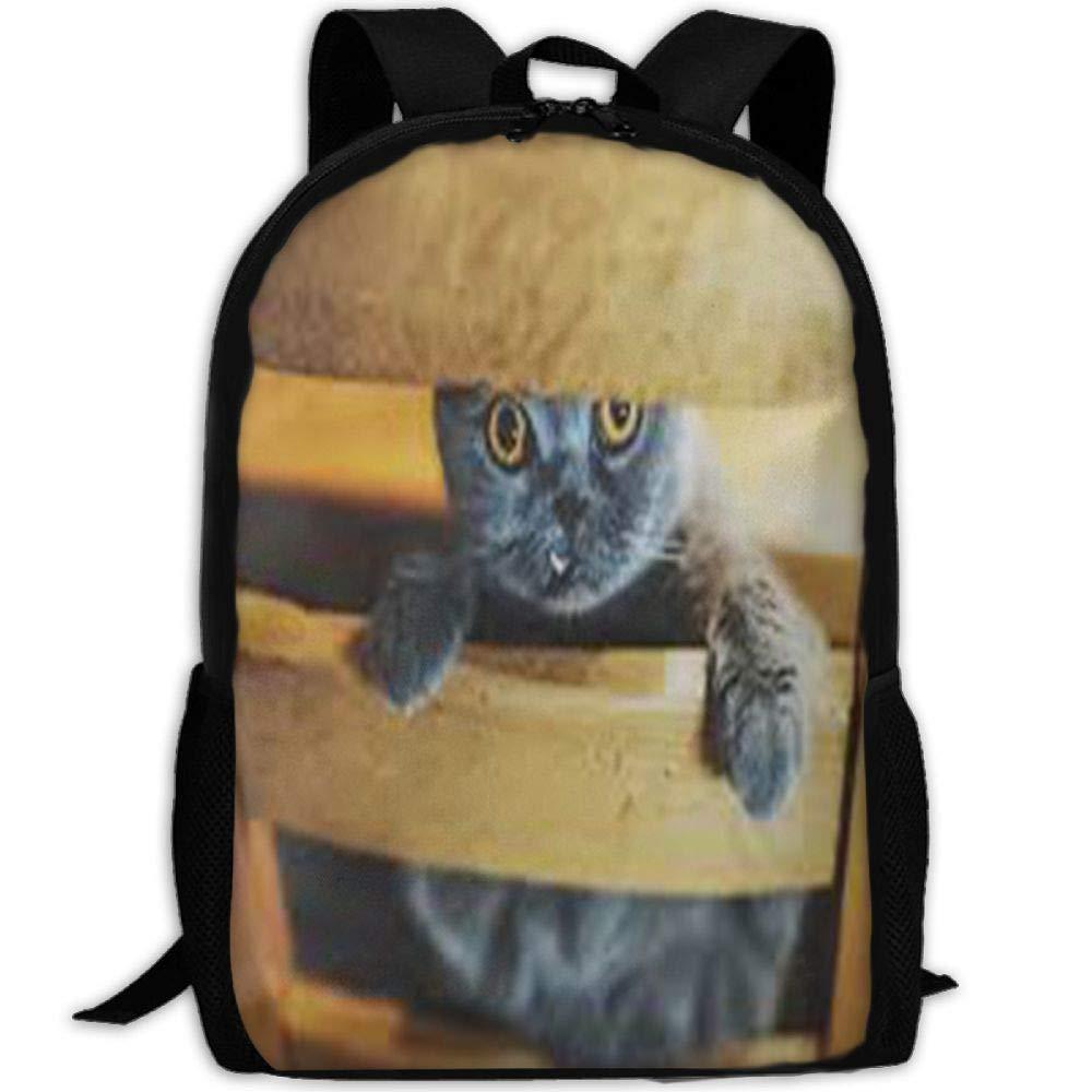 Malsjk8 黒 子猫 学校 ブックバッグ リュックサック 女の子 旅行 バックパック キャンバス バックパック ショルダー ブックバッグ   B07G8ZCL8M