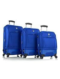 "Leo by Heys - HBX3 Hybrid Spinner Luggage Set 3 Pieces - 30"", 26"" & 21"" (Cobalt Blue)"