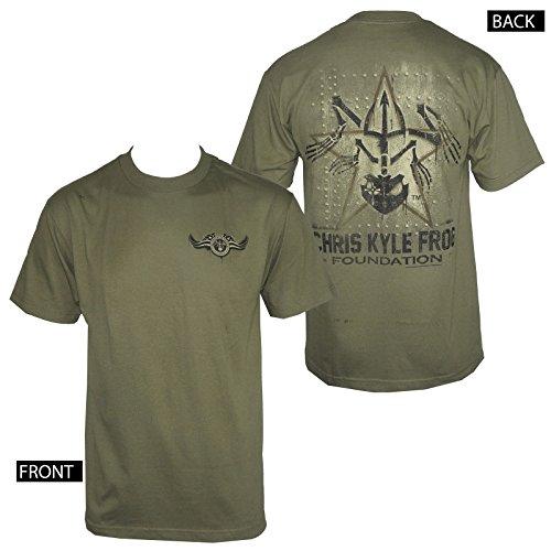 - CHRIS KYLE Frog Foundation Military Panel Men's Green T-shirt