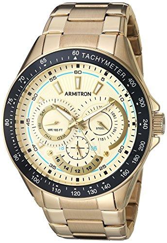 Armitron Men's 20/5197CHGP Multi-Function Dial Gold-Tone ...