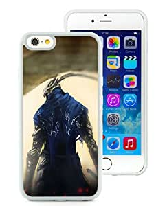 New Unique And Popular iPhone 6 4.7 Inch TPU Case Designed With Dark Souls Gates Knight Art White iPhone 6 Cover