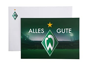 Gluckwunschkarte Alles Gute Sv Werder Bremen Amazon De Sport