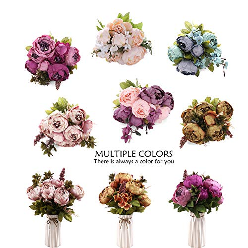 Uworld-Artificial-Flowers-Real-Looking-Fake-Peony-for-PartyDIY-Wedding-Bouquets-Home-CenterpiecesPurple-A