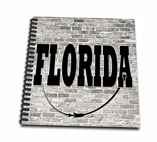 3dRose RinaPiro - US States - Florida. State Capital is Tallahassee. - Drawing Book 8 x 8 inch (db_268688_1) (1 1 Tallahassee)
