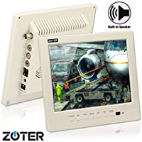 CCTV Monitor, BNC, Speaker, ZOTER 8 inch Portable Audio LCD Mini Screen White for Security Camera DVR