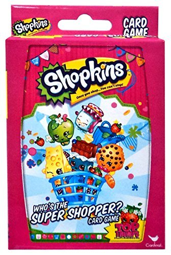 (Shopkins Who's The Super Shopper Card Game, 2 Players or More, Ages 3 & Up)