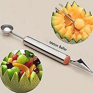 Stainless Steel Dual-use Fruit Watermelon Carving Knife Tool dig ice cream scoop assorted cold steel fruit carving tools.
