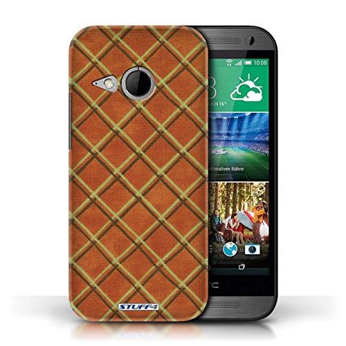 Etui / Coque pour HTC One/1 Mini 2 / Orange conception / Collection de Motif Entrecroisé
