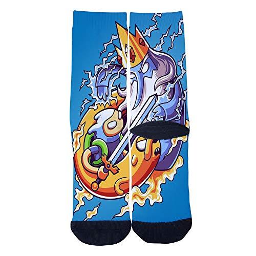 (Casual Socks Little Warrior VS Ice King Socks Novelty Custom Socks Hip Hop Cartoon Socks Elite Crew Socks)