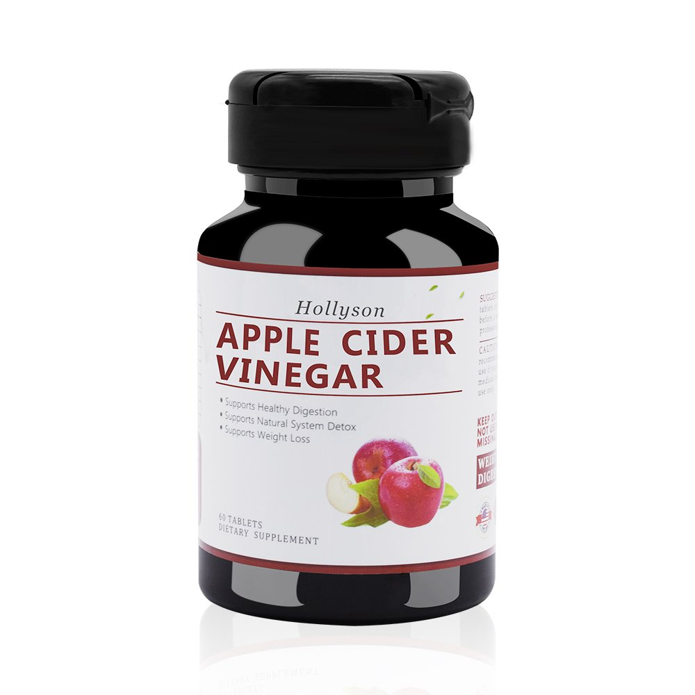 Apple Cider Vinegar Capsules Supports Weight Loss Natural Cleanser 60 Pills Non GMO Supplement Digestion Metabolism & Healthy Blood Sugar Support by Hollyson