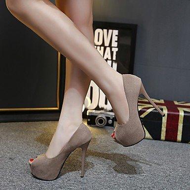 pwne Donna Primavera tacchi Slingback PU Casual Black US6 / EU36 / UK4 / CN36