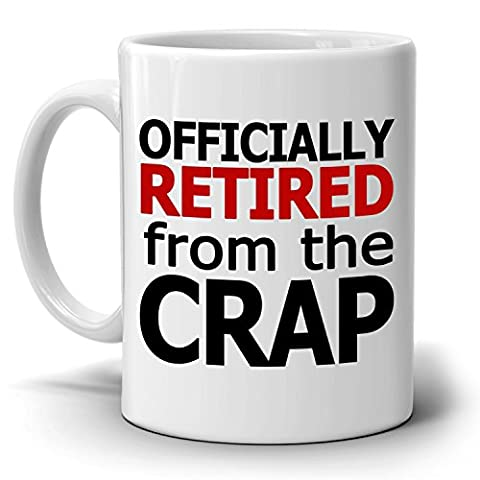 Officially Retired for Men and Women Gift Mug, Funny Retirement Gag Gifts Ideas, Printed on Both (Funny Pastor Gifts)